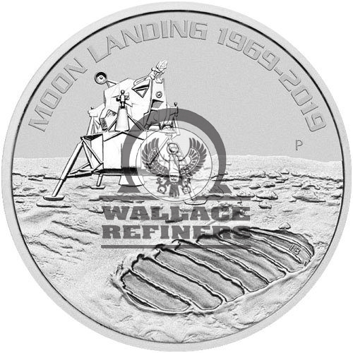 2019 1 oz Australian Anniversary of the Moon Landing Silver Coin (BU)