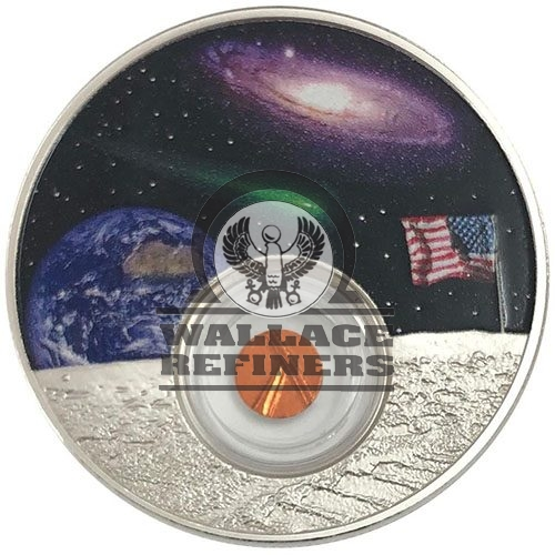 2019 1 oz Niue Silver Moon Landing 50th Anniversary Proof Coin (Box + CoA)