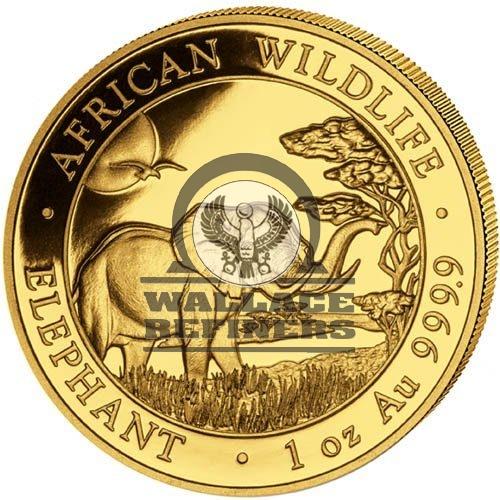2019 1 oz Somalia Gold Elephant Coin (BU)