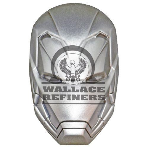 2019 2 oz Antique Fiji Marvel Iron Man Mask Domed Coin (Box + CoA)