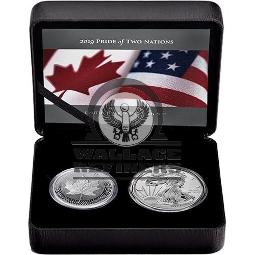 2019 RCM Pride of Two Nations Silver 2-Coin Set (Box + CoA)
