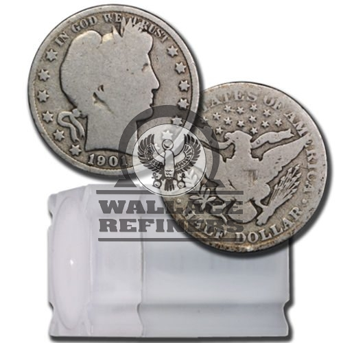 90% Silver Barber Half Dollars ($10 Tube