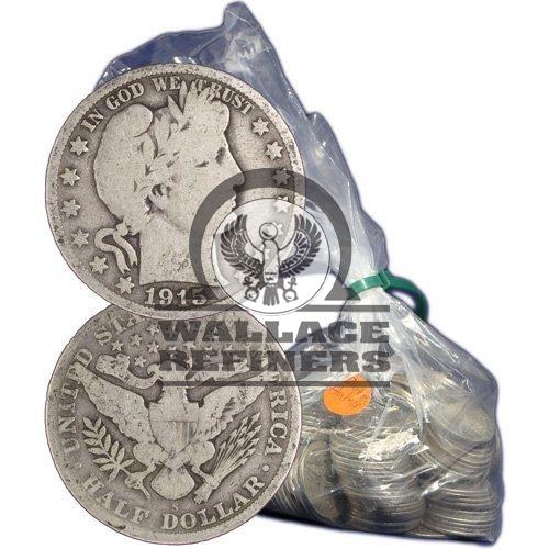 90% Silver Barber Half Dollars ($100 FV