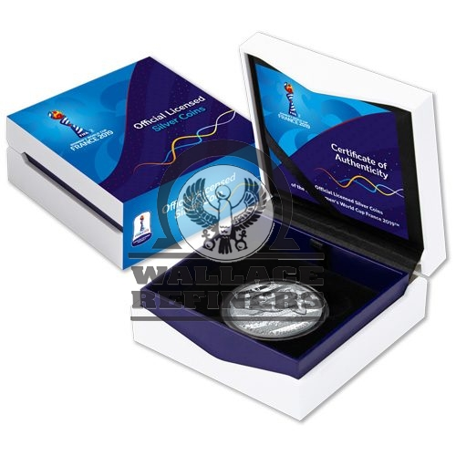 FIFA Women's World Cup France Silver Coin Display Box