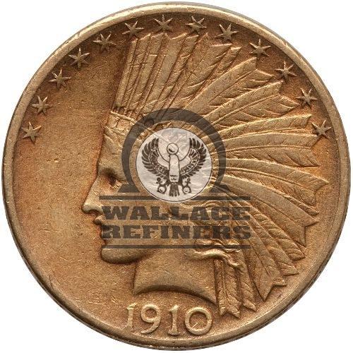 Pre-33 $10 Indian Gold Eagle Coin (AU)