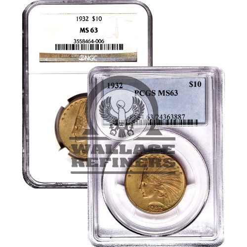 Pre-33 $10 Indian Gold Eagle Coin (MS63