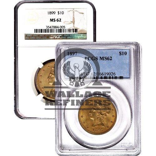 Pre-33 $10 Liberty Gold Eagle Coin (MS62