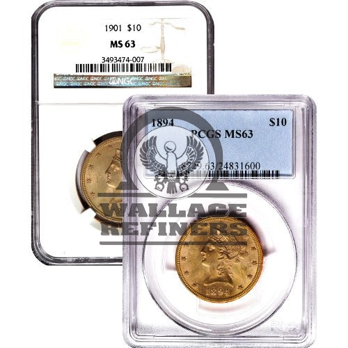 Pre-33 $10 Liberty Gold Eagle Coin (MS63