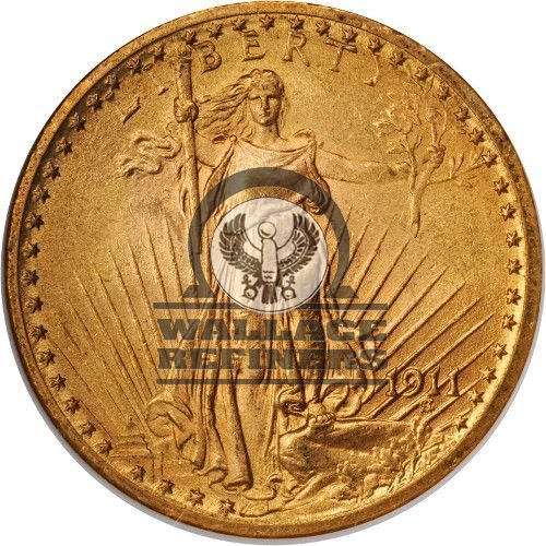 Pre-33 $20 Saint Gaudens Gold Double Eagle Coin (XF)