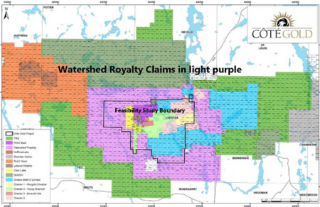 Ely Gold purchases royalty on property surrounding future IAMGOLD's Coté gold mine