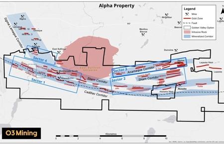 O3 Mining hits 413 g/t gold at Alpha